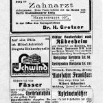 1934Zahnarztpraxis     Dr. Hans Gretzer in Miltenberg